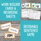 Short i Word Family Word Builder Cards