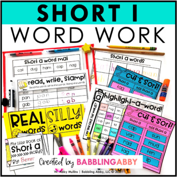Short i Word Work Activities for Literacy Centers