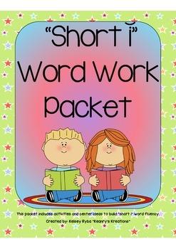 Short i CVC Word Work Packet