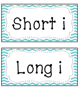 Short i and Long i Word Sort