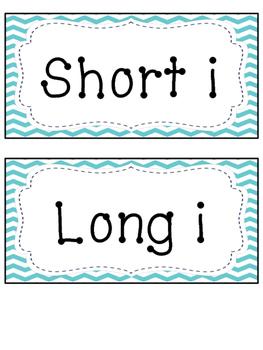 Short i and Long i Word Sort