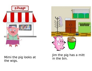 "Phonics Reader, Short ""i' Title: The Pigs"
