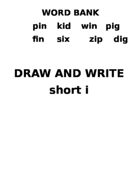 Short i draw and write