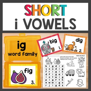 ig Word Family Phonics Pack