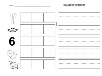 Short i Stamp and Write Preview