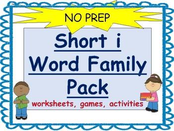Short i word Family Packet-No Prep