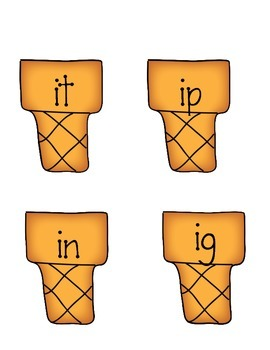 Short i word sort literacy center: it, ig, in, ip -  CCSS Aligned Kindergarten
