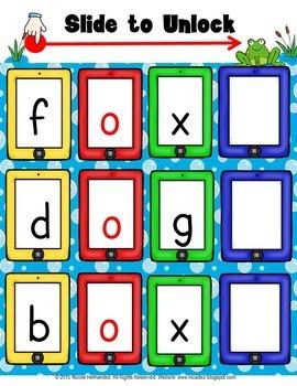 Short Vowels CVC Blending Cards (Short o) Words