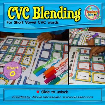 CVC Blending Cards - iSlides {Short o}