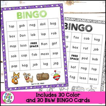 "Short Vowels Game: Short ""o"" CVC BINGO"
