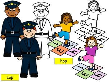 Short vowel o clipart- OP Words Clip art (6 WORDS- 20 IMAGES)