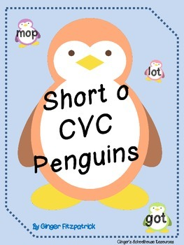 Short o CVC Penguin Card Game