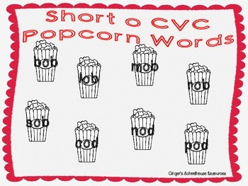 Short o CVC Popcorn Lotto Game
