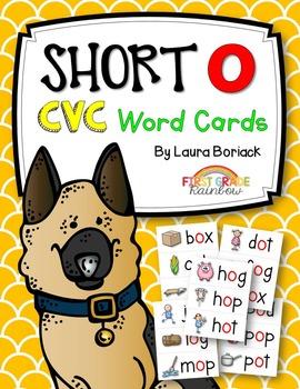 Short o CVC Word Cards