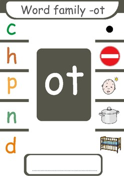 Short  o CVC  Word Families ( -op, -ot, -ob, -og)