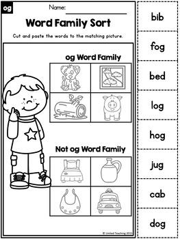 Short o CVC Word Family Packets Bundle