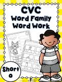Short o Word Family Word Work
