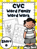 Short o Word Family Word Work