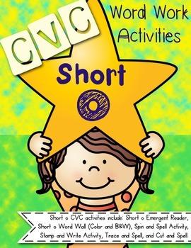 Short o CVC Word Work
