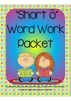 Short o CVC Word Work Packet