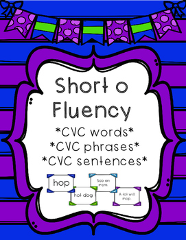 Short o - Differentiated Sentence Fluency Cards