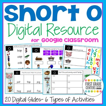 Short o Digital Resource for Google Classroom