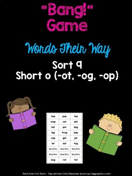 Short o Game (WTW Letter Name Sort 9 - ot, og, op)