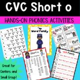 Short o Hands-on CVC Word Family Phonics Activities