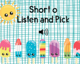 Short o Listen and Pick Boom Cards Digital Task Cards