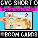 Short-o Listen and Type CVC Boom Cards