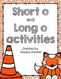 Short O / Long O Activities and Worksheets