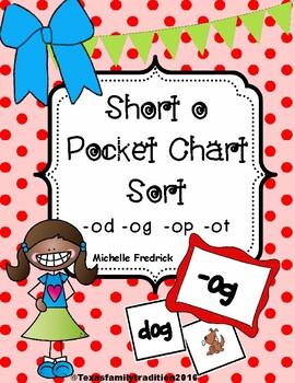 Short o Pocket Chart Sort
