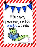 Short o Reading Fluency Pyramids