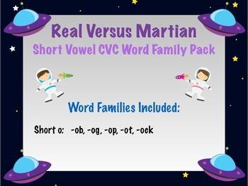 Short o - Real vs Nonsense words