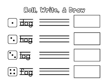 Short o Roll, Write, & Draw - CCSS Aligned - Kindergarten