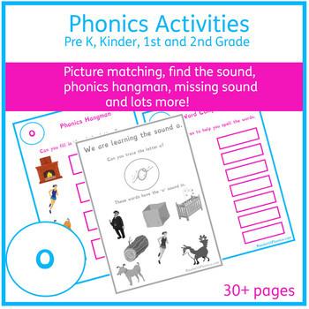 Short 'o' Sound Phonics Bundle 30+ Pages | Phonics Resources | Phonics Worksheet