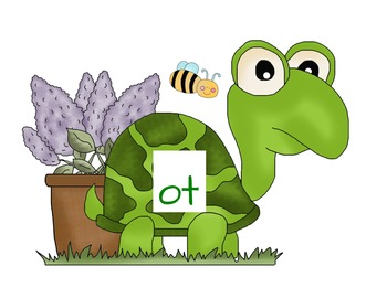 Short o Word Families - Turtles and Flowers