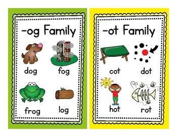 Short o Word Families - Word Sorts and More