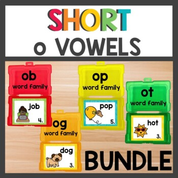Short o Word Work cvc Bundle
