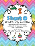 Short o Word Family Activities