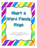 Short 'o' Word Family Bingo
