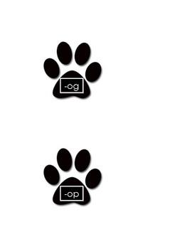 Short /o/ Word Family Dog