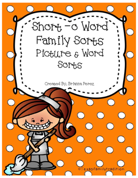 Short -o Word Family Sorts