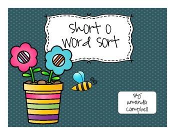 Short o Word Sort