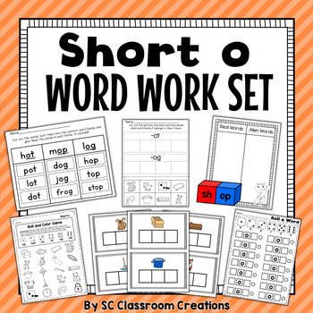 Short o Word Work Set