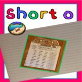 Short o Worksheet and Craft