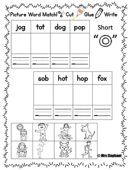 Short o Worksheets and Activities (cvc, ccvc)
