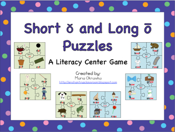 Short o and Long o Puzzles