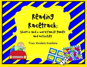 Short o and u Reading Racetrack