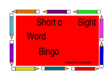 Short o bingo game